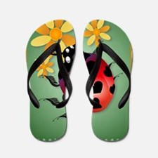 Love bugs and flowers Flip Flops