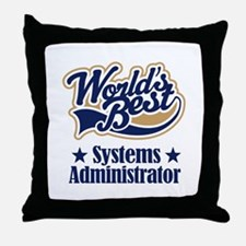 Systems Administrator Gift Throw Pillow