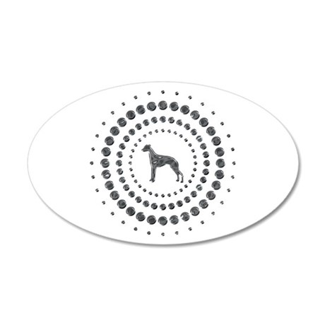 Whippet 22x14 Oval Wall Peel