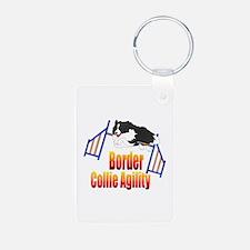 Border Collie Agility Keychains