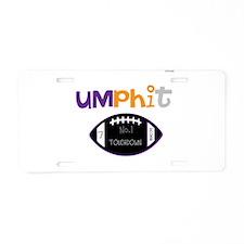 OYOOS Touchdown Football desi Aluminum License Pla