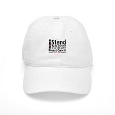 I Stand Grandma Breast Cancer Baseball Cap
