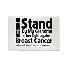 I Stand Grandma Breast Cancer Rectangle Magnet