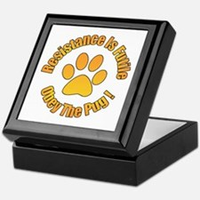 Obey The Pug Keepsake Box