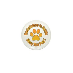 Obey The Pug Mini Button (10 pack)