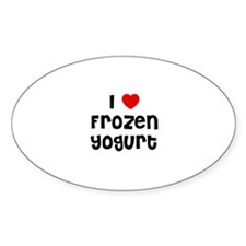 I * Frozen Yogurt Oval Decal
