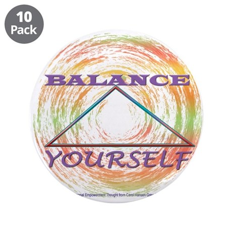 "Balance Yourself 3.5"" Button (10 pack)"
