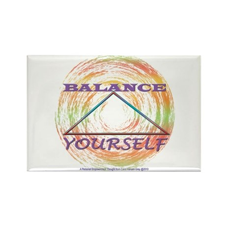 Balance Yourself Rectangle Magnet (10 pack)