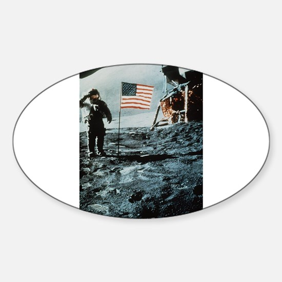 One Giant Leap For Mankind Sticker (Oval)