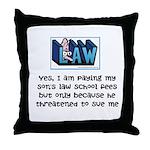 Poor Dad's Throw Pillow