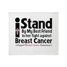 Stand BestFriend Breast Cancer Throw Blanket