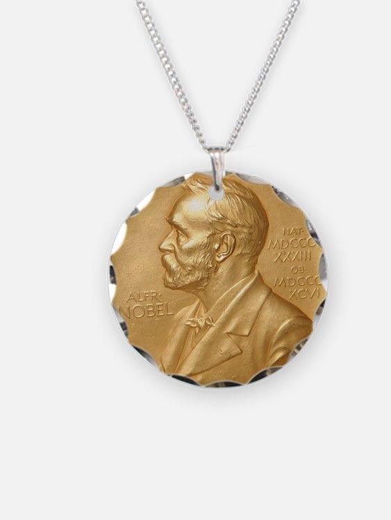 Nobel Peace Prize Necklace Circle Charm