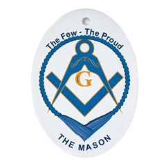 Masonic Proud Mason Oval Ornament
