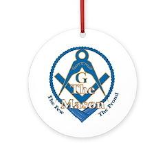 Masonic Proud Mason Ornament (Round)