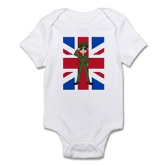 British Army Green Beret Infant Bodysuit