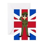 Army Green Beret Greeting Cards (Pk of 20)