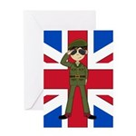 Army Green Beret Greeting Card
