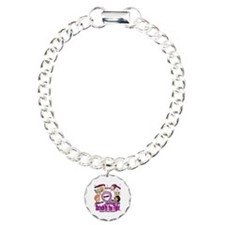 Sister's In The Fight Charm Bracelet, One Charm