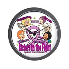 Sister's In The Fight Wall Clock