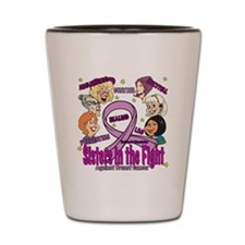 Sister's In The Fight Shot Glass