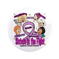 "Sister's In The Fight 3.5"" Button"