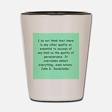 john d rockefeller Shot Glass