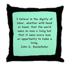 john d rockefeller Throw Pillow