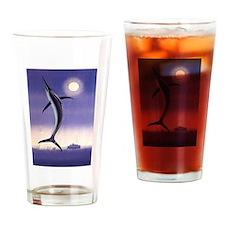 Jumping Marlin Drinking Glass