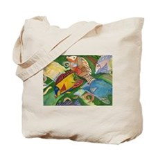 Tropical Fish School Tote Bag