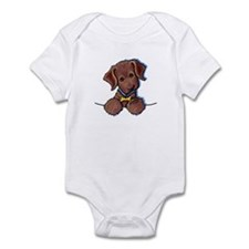 Chocolate Lab Infant Creeper