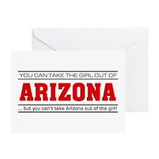 'Girl From Arizona' Greeting Card