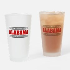 'Girl From Alabama' Drinking Glass
