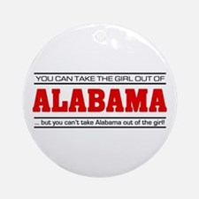 'Girl From Alabama' Ornament (Round)