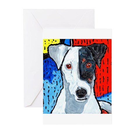 Right on Terrier Greeting Cards (Pk of 20)