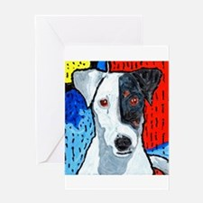 Right on Terrier Greeting Card