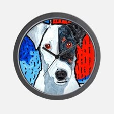 Right on Terrier Wall Clock