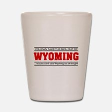 'Girl From Wyoming' Shot Glass