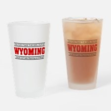 'Girl From Wyoming' Drinking Glass