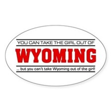 'Girl From Wyoming' Decal