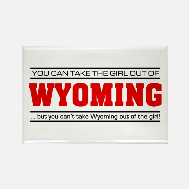 'Girl From Wyoming' Rectangle Magnet