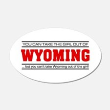 'Girl From Wyoming' 22x14 Oval Wall Peel