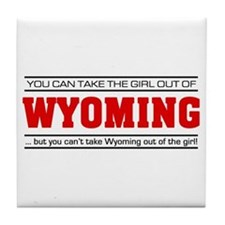 'Girl From Wyoming' Tile Coaster