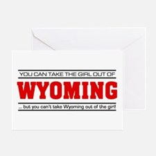 'Girl From Wyoming' Greeting Card