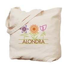 Alondra with cute flowers Tote Bag