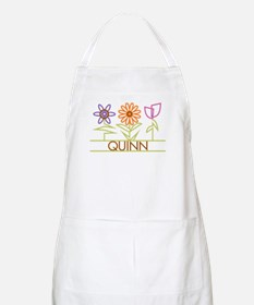 Quinn with cute flowers Apron