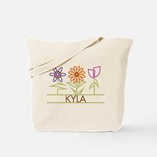 Kyla with cute flowers Tote Bag