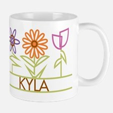Kyla with cute flowers Mug