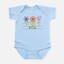 Kyla with cute flowers Infant Bodysuit