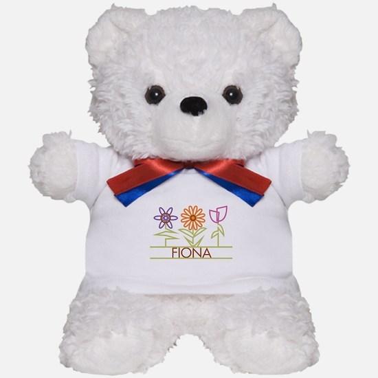 Fiona with cute flowers Teddy Bear
