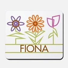 Fiona with cute flowers Mousepad